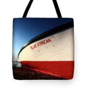beached fishing boat at Hecla on Lake Winnipeg Tote Bag