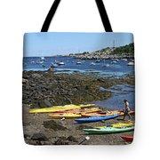 Beached Kayaks At Rockport Harbor Tote Bag