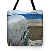 Beached Plane Wreckage - Iceland Tote Bag