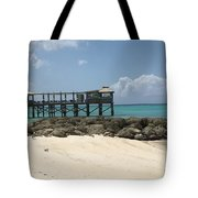 Beachfront Pier Tote Bag