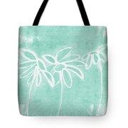 Beachglass And White Flowers 3- Art By Linda Woods Tote Bag