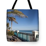 Beachland Boulevard At Vero Beach In Florida Tote Bag