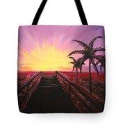 Beachside Sunset Tote Bag