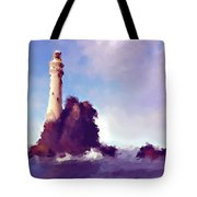 Beacon On The Rock Tote Bag