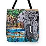 Beaded Elephant Tote Bag