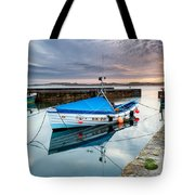 Beadnell Harbour Sunset Tote Bag