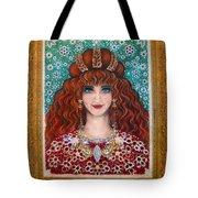 Sarah Goldberg Beauty Queen. Beadwork Tote Bag