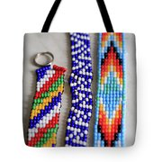 Beadwork Tote Bag by Tracy Hall