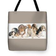 Beagle Puppies Tote Bag