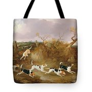 Beagles In Full Cry Tote Bag