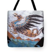 Beaked Dragon Flies Above The Sea Tote Bag by Carol  Law Conklin