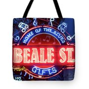 Beale Street Home Of The Blues Tote Bag