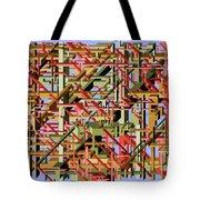 Beams Abstract Art Tote Bag