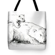 Bear And Cub Tote Bag