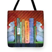 Bear Bookends Tote Bag