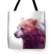 Bear // Calm - Right // White Background Tote Bag