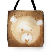 Bear Cup Latte  Tote Bag
