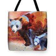 Bear Family Outing Tote Bag