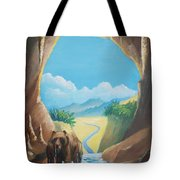 Bear Going Home Tote Bag