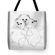 Bear Huddle Tote Bag