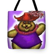 Bear In Red Hat Tote Bag