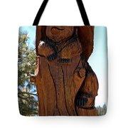 Bear In Wood Tote Bag