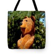 Bear In Woods Tote Bag