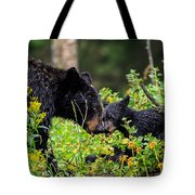 Bear Kisses Tote Bag