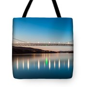 Bear Mountain Bridge At Dusk. Tote Bag