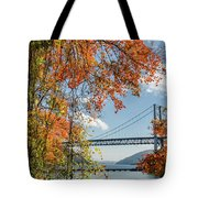 Bear Mountain Bridge Fall Color Tote Bag