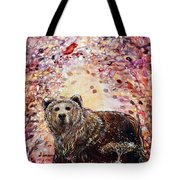 Bear With A Heart Of Gold Tote Bag