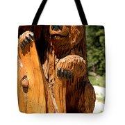 Bear On Trail Tote Bag