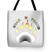 Bear Pride Paw With Text Tote Bag