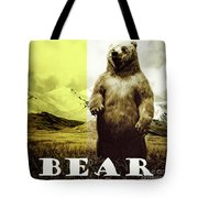 Brown Grizzly Bear Tote Bag