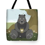 Bear With A Jar Of Honey Tote Bag