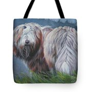 Bearded Collie In Field Tote Bag