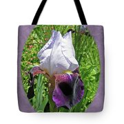 Bearded Iris Blossom Tote Bag