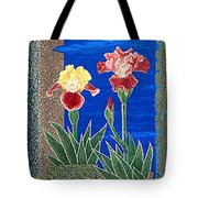 Bearded Irises Cheerful Fine Art Print Giclee High Quality Exceptional Color Tote Bag