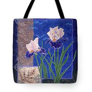 Bearded Irises Fine Art Print Giclee Ladybug Path Tote Bag