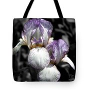 Bearded Irises Partial Color Tote Bag