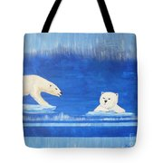 Bears In Global Warming Tote Bag