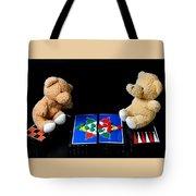 Bears Playing Halma Tote Bag