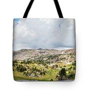 Beartooth Mountains Panorama Tote Bag