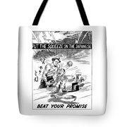 Beat Your Promise Cartoon  Tote Bag