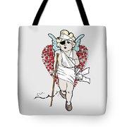 Beaten Up Cupid Art - Funny Love Broken Heart Art Tote Bag