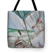 Beating Windward Tote Bag