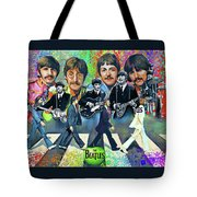 Beatles Fan Art Tote Bag