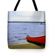 Beaultiful Red Canoe Tote Bag