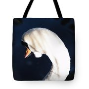 Beautiful Abstract Surreal White Swan Looking Away Tote Bag