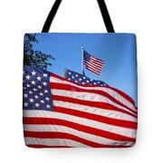 Beautiful American Flags Tote Bag